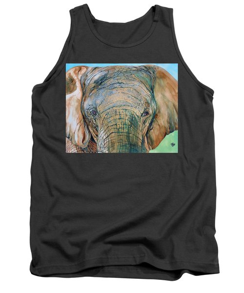 Bronze Elephant Tank Top by Raymond Perez