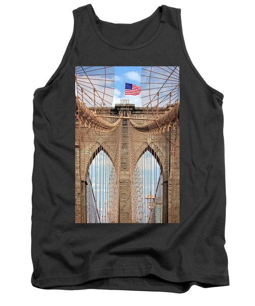 Tank Top featuring the photograph Brooklyn Bridge 2  by Emmanuel Panagiotakis