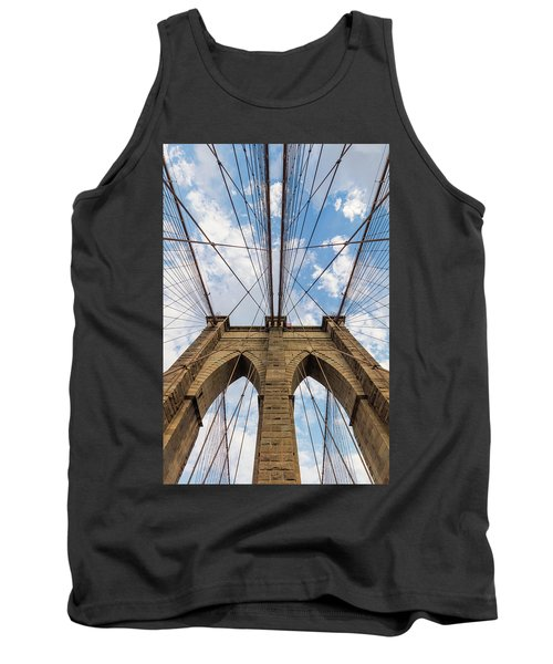 Tank Top featuring the photograph Brooklyn Bridge 3 by Emmanuel Panagiotakis