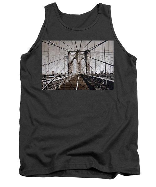 Brooklyn Bridge By Art Farrar Photographs, Ny 1930 Tank Top