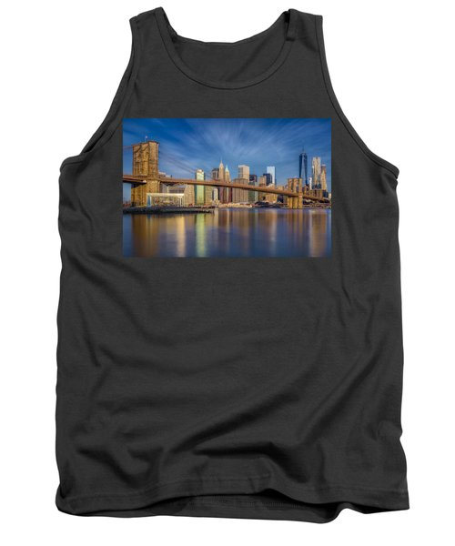 Tank Top featuring the photograph Brooklyn Bridge From Dumbo by Susan Candelario