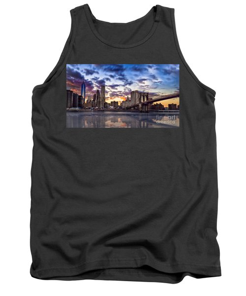 Brooklyn Bridge Manhattan Sunset Tank Top