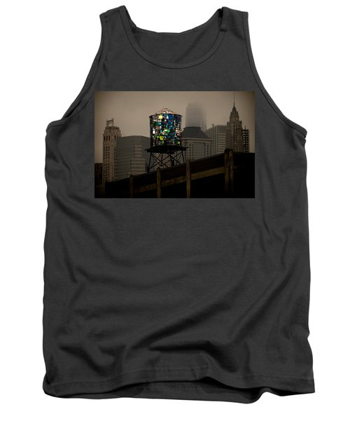 Tank Top featuring the photograph Brooklyn Water Tower by Chris Lord