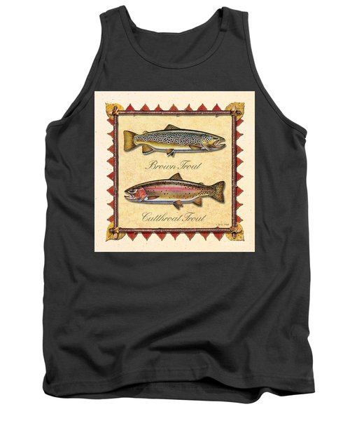 Brown And Cutthroat Creme Tank Top