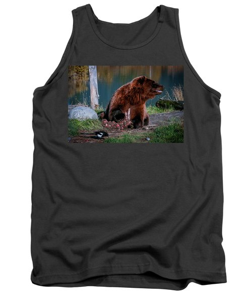 Brown Bear And Magpie Tank Top