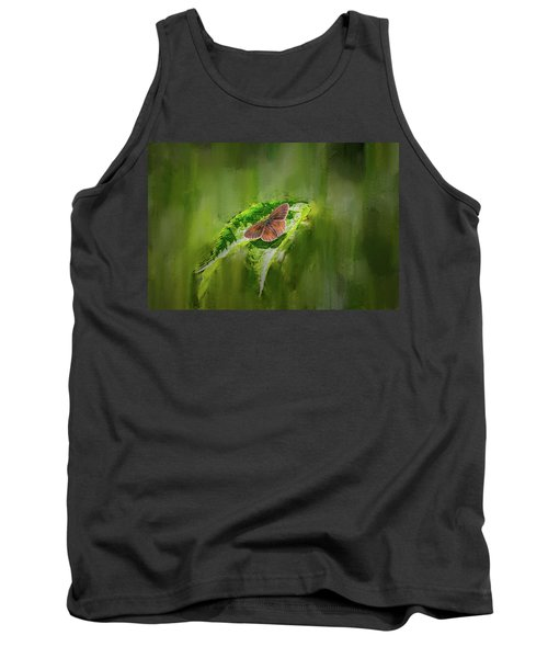 Brown Butterfly #h6 Tank Top