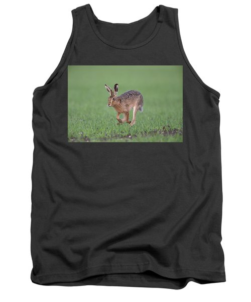 Brown Hare Running Tank Top
