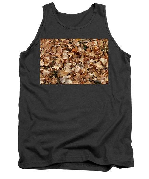 Brown Leaf Carpet Tank Top