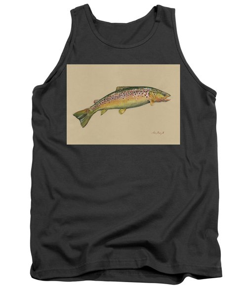Brown Trout Jumping Tank Top