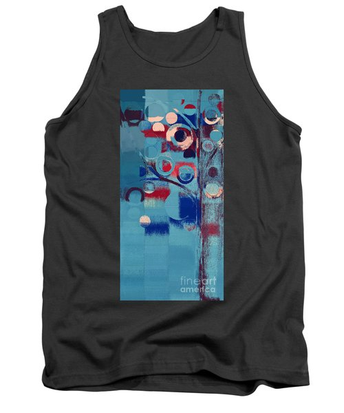 Tank Top featuring the painting Bubble Tree - 85e-j4 by Variance Collections