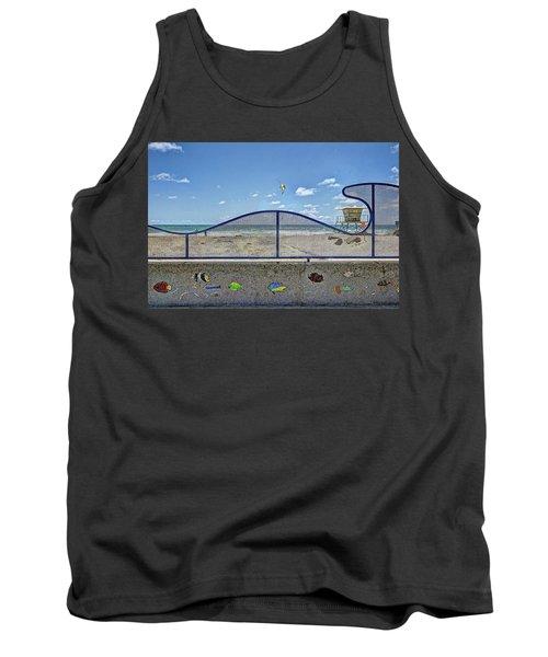 Buccaneer Beach Tank Top by Ann Patterson