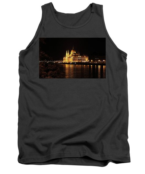 Tank Top featuring the digital art Budapest - Parliament by Pat Speirs