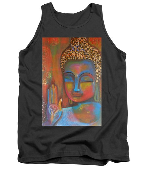 Buddha Blessings Tank Top by Prerna Poojara
