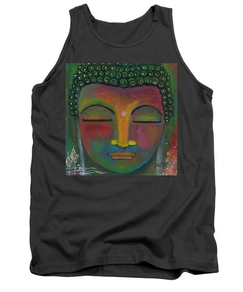 Tank Top featuring the painting Buddha Painting by Prerna Poojara