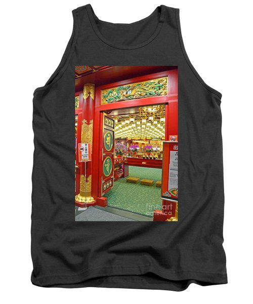Tank Top featuring the digital art Buddha Tooth Relic Temple And Museum by Eva Kaufman