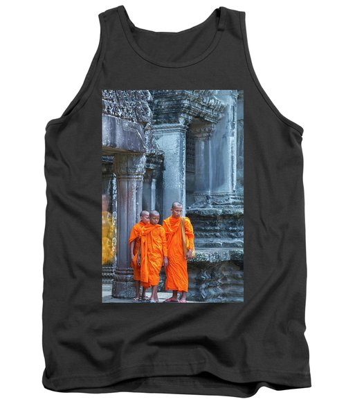 Buddhist Monks Cambodia Tank Top