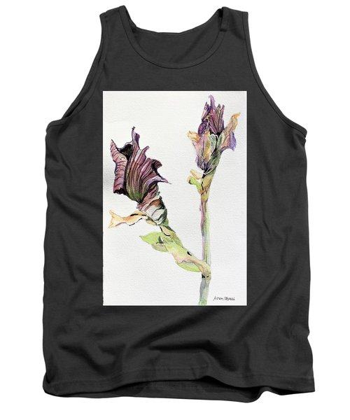 Budding Irises Tank Top