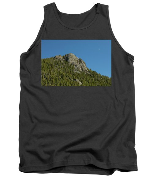 Tank Top featuring the photograph Buffalo Rock With Waxing Crescent Moon by James BO Insogna