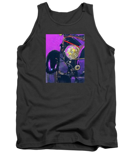 Bugatti Abstract Purple Tank Top by Walter Fahmy