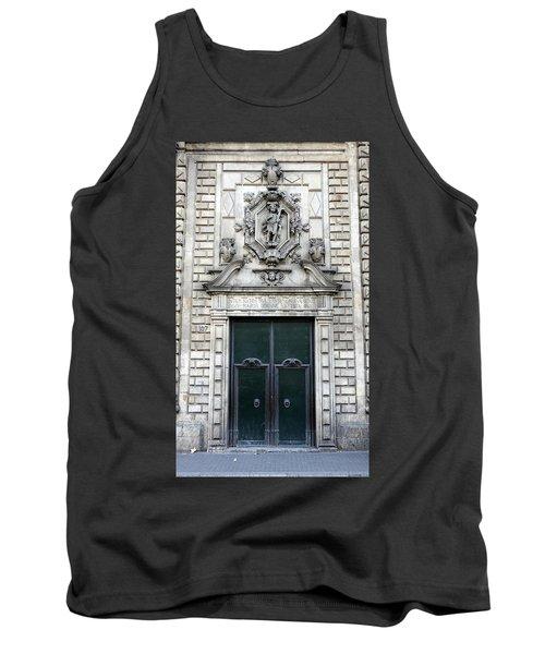 Building Artwork And Old Door In Barcelona Tank Top by Richard Rosenshein