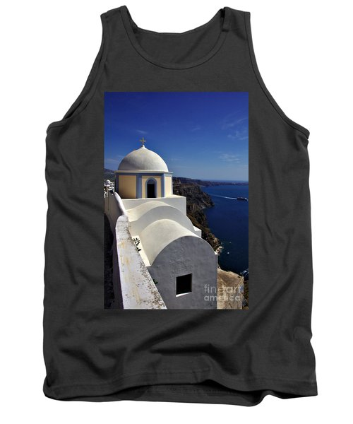 Building In Fira Tank Top