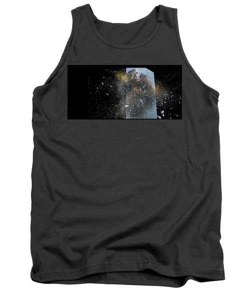 Tank Top featuring the digital art Building_explosion by Marcia Kelly