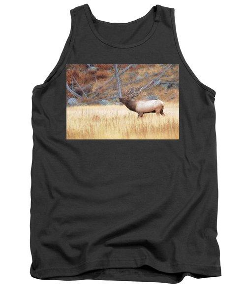 Bull Elk Tank Top by Kelly Marquardt