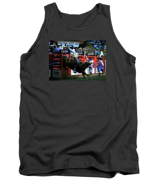 Bull Riding At The Grand National Rodeo Tank Top