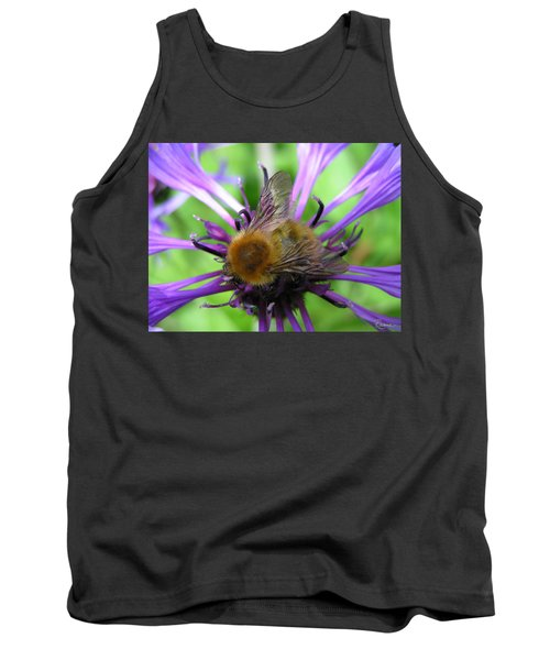Bumblebee In Blue Tank Top