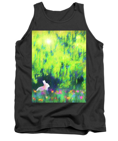 Bunny Beneath The Willow Tree Tank Top