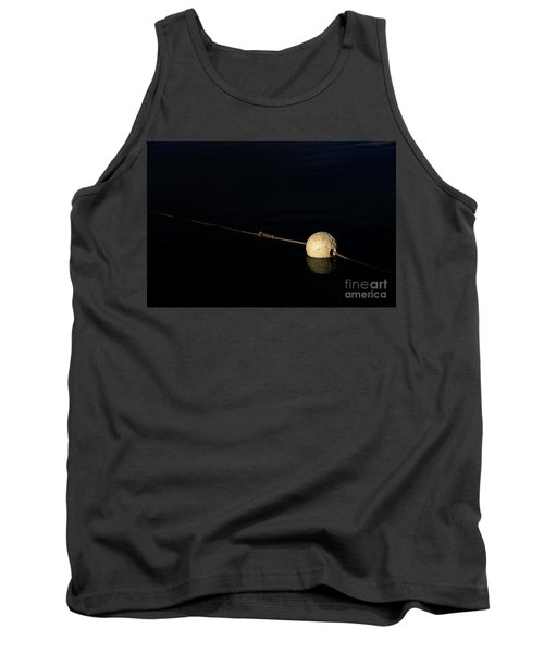 Tank Top featuring the photograph Buoy At Night by Stephen Mitchell