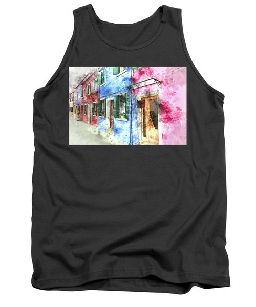 Burano Italy Buildings Tank Top
