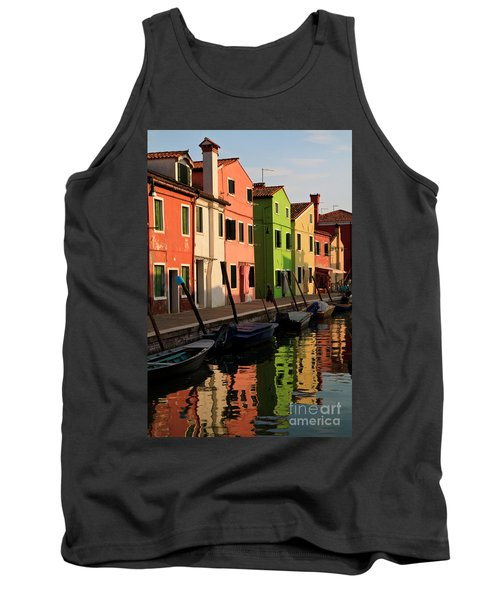 Tank Top featuring the photograph Burano Reflections by Dennis Hedberg