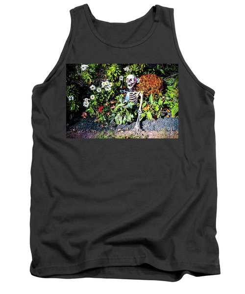 Tank Top featuring the photograph Buried Alive - Skeleton Garden by Colleen Kammerer