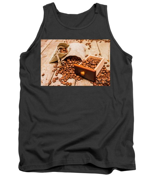 Burlap Bag Of Coffee Beans And Drawer Tank Top