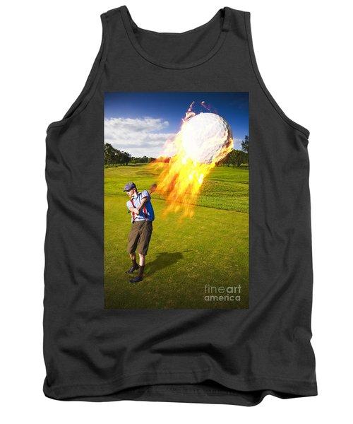 Burning Golf Ball Tank Top
