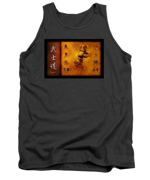 Tank Top featuring the digital art Bushido Way Of The Warrior by John Wills