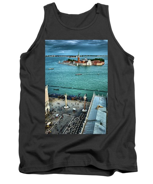 Piazza San Marco And San Giorgio Di Maggiore From The Bell Tower In Venice, Italy Tank Top