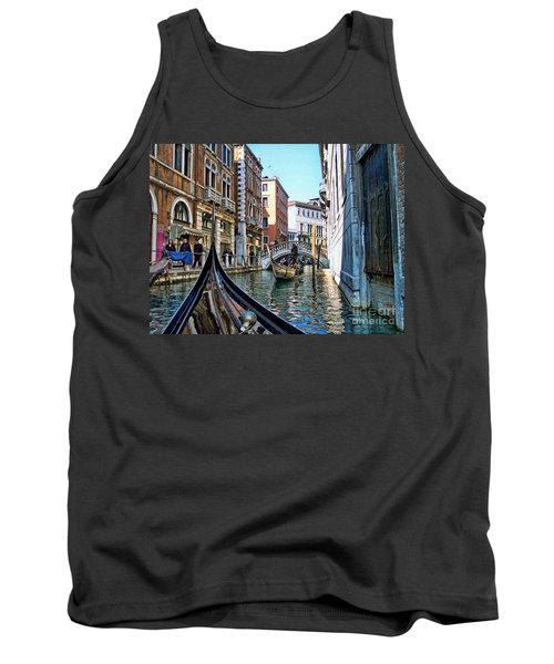 Tank Top featuring the photograph Busy Canal by Roberta Byram