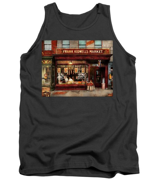 Tank Top featuring the photograph Butcher - Meat Priced Right 1916 by Mike Savad