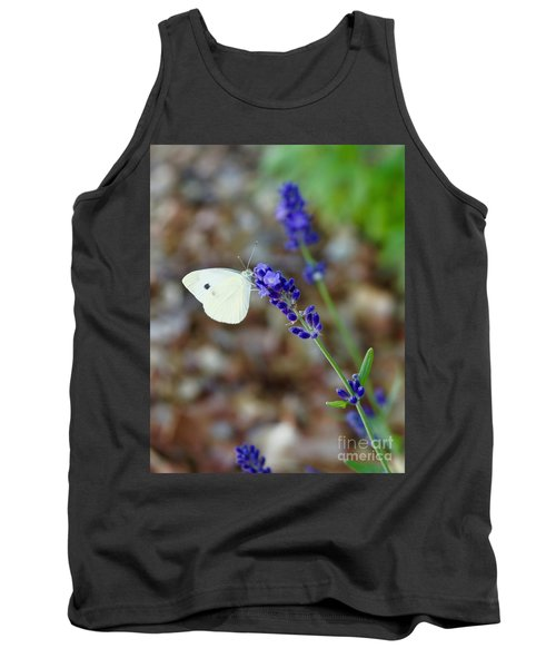 Butterfly And Lavender Tank Top