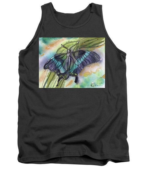 Butterfly Bamboo Black Swallowtail Tank Top
