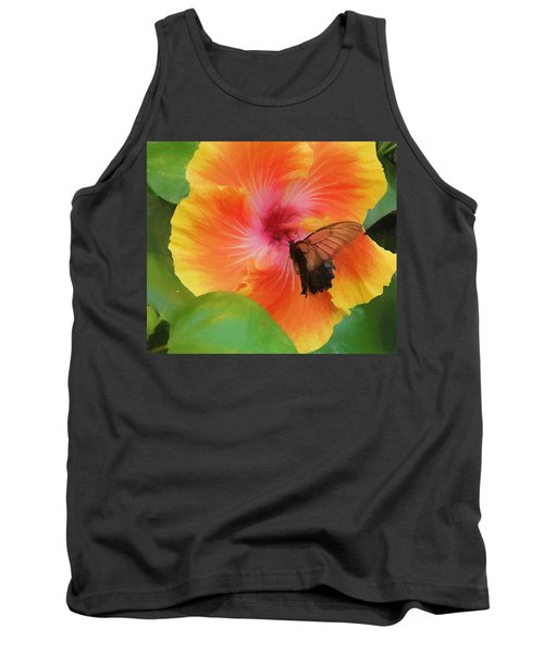 Butterfly Botanical Tank Top by Kathy Bassett