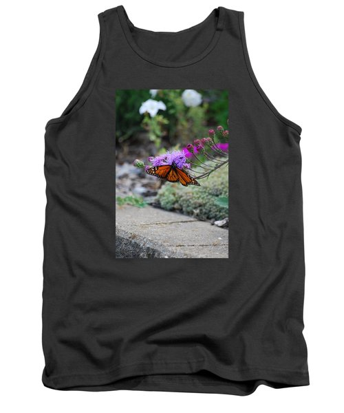 Tank Top featuring the photograph Butterfly Garden by Ramona Whiteaker