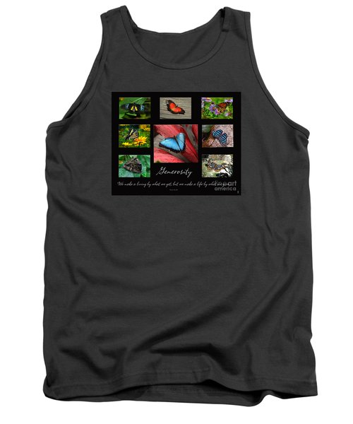 Tank Top featuring the photograph Butterfly Generosity Collage by Diane E Berry
