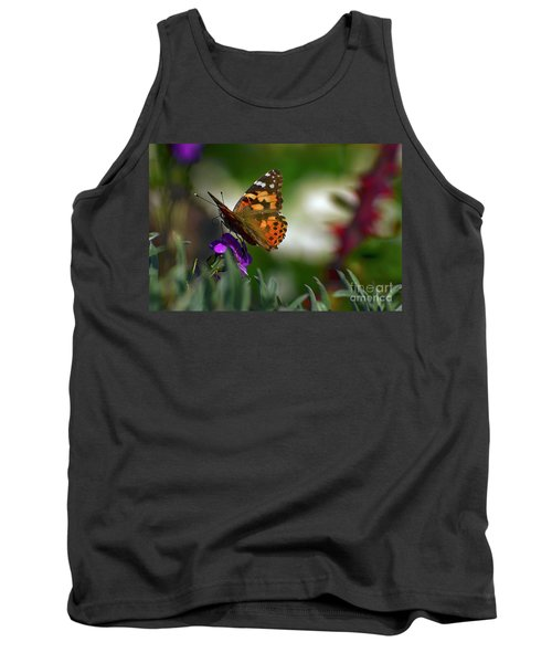Tank Top featuring the photograph Butterfly In Winter by Debby Pueschel
