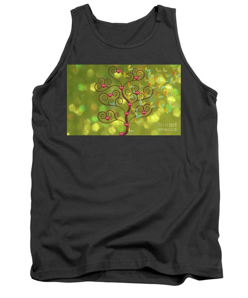 Butterfly Of Heart Tree Tank Top by Kim Prowse