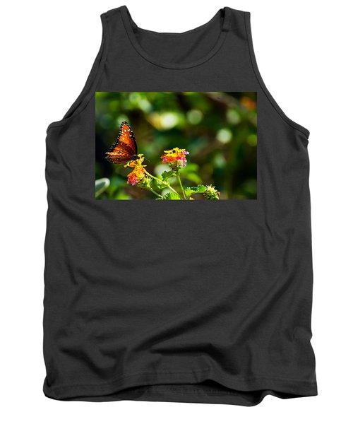 Butterfly On A Flower Tank Top