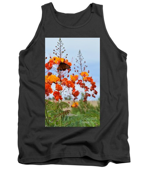 Butterfly On Bird Of Paradise Tank Top