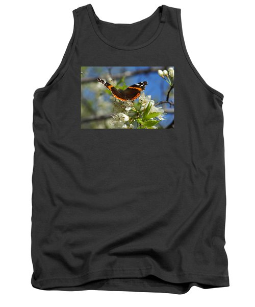 Butterfly On Blossoms Tank Top by Steven Clipperton